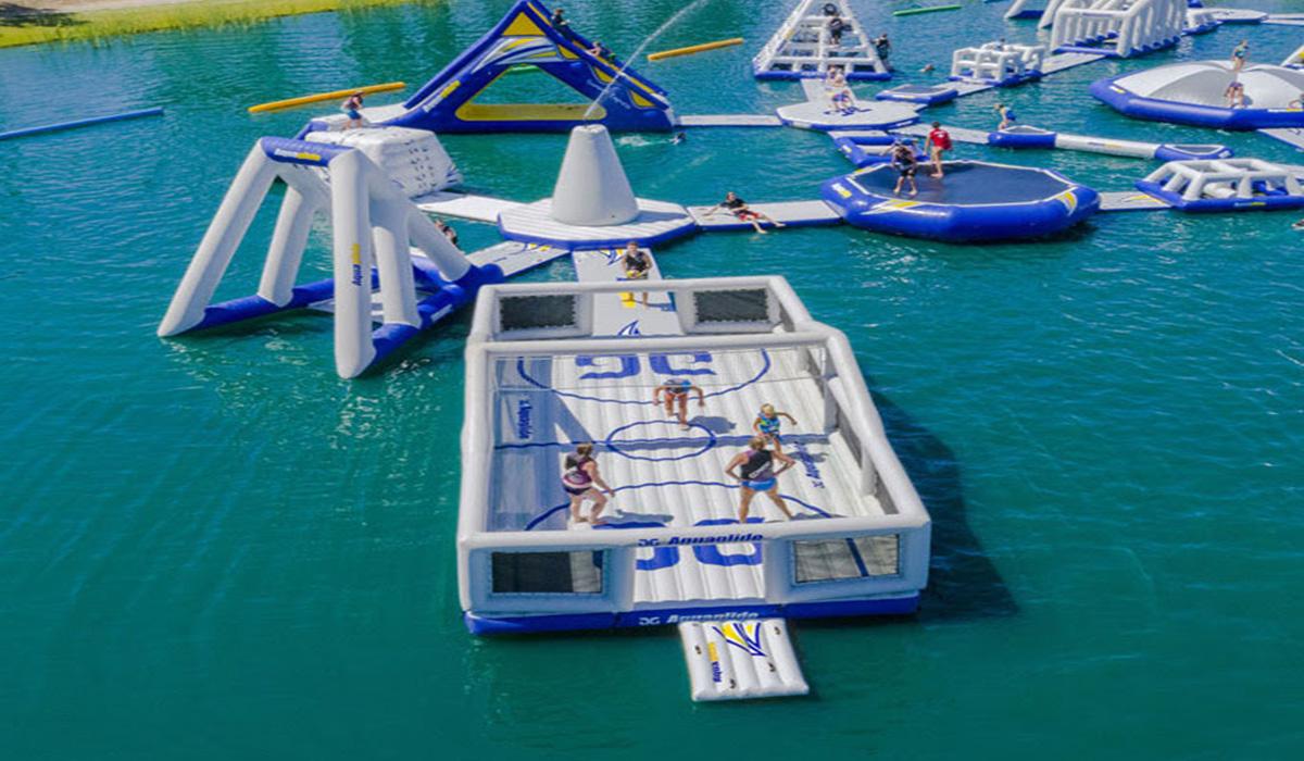 Sport, aquaglide, Wasserpark, Wasserspielanlage, Spielplatz, Sportplatz © Spielort.at